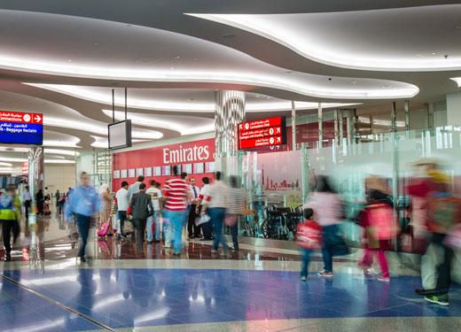 В феврале Dubai International обслужил почти 7 млн. пассажиров