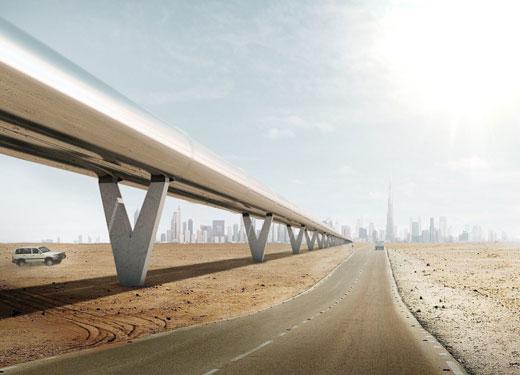 أول خدمة هايبرلوب في العالم يُستهل إنشاؤها في الإمارات العربية المتحدة