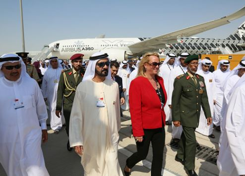 معرض دبي للطيران يحطم الأرقام المسجلة بقيمة صفقات بلغت 114 مليار دولار أمريكي