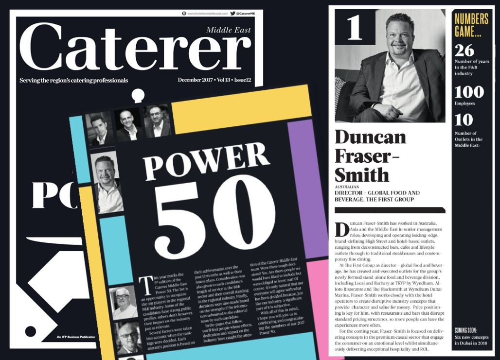 TFG F&B's Fraser-Smith tops prestigious Middle East industry power list