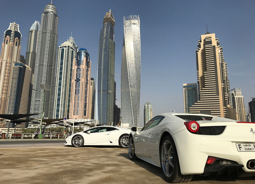 Dubai Cars and Skyline