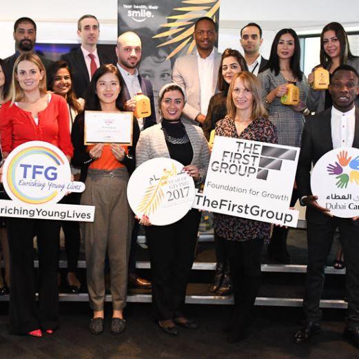 """""""فيرست جروب"""" تدعم مبادرات """"دبي العطاء"""" ضمن مبادرات 2017 عام الخير"""