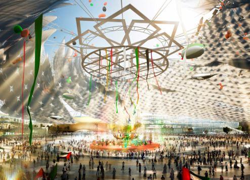 كشف النقاب عن تصميم ساحة الوصل بلازا بمعرض إكسبو الدولي بدبي
