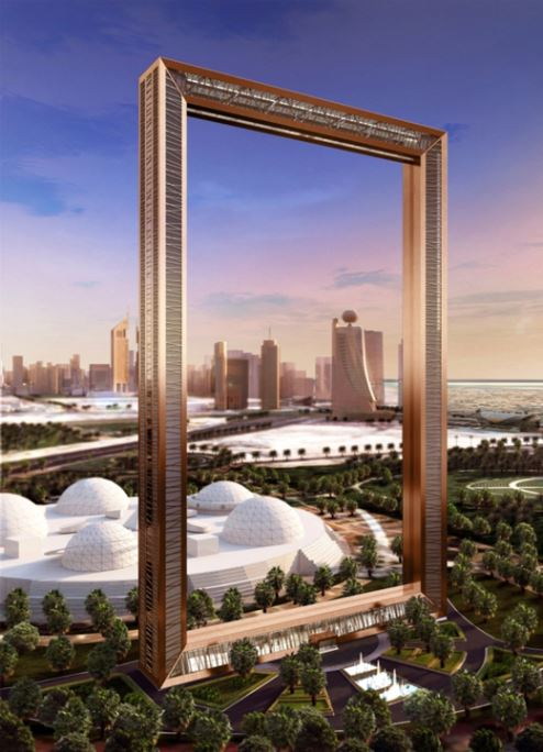 An artist's impression of Dubai Frame