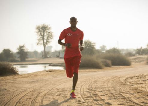 Mo Farah in a still from the video