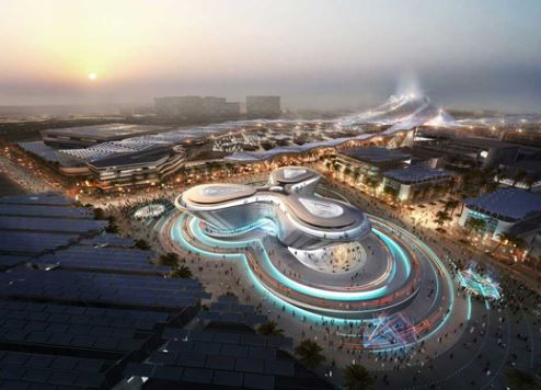 An artist's impression of the Expo 2020 site.