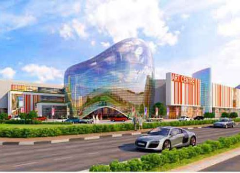An artist's impression of the new mall.