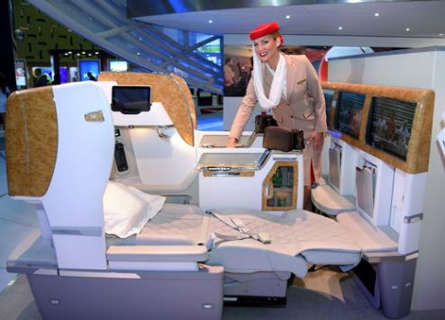 Emirates' new business class seating.