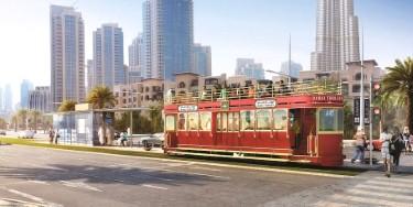 ترولي جديد يجذب السياح إلى وسط مدينة دبي