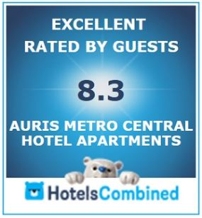 Excellent rating by guests on HotelsCombined
