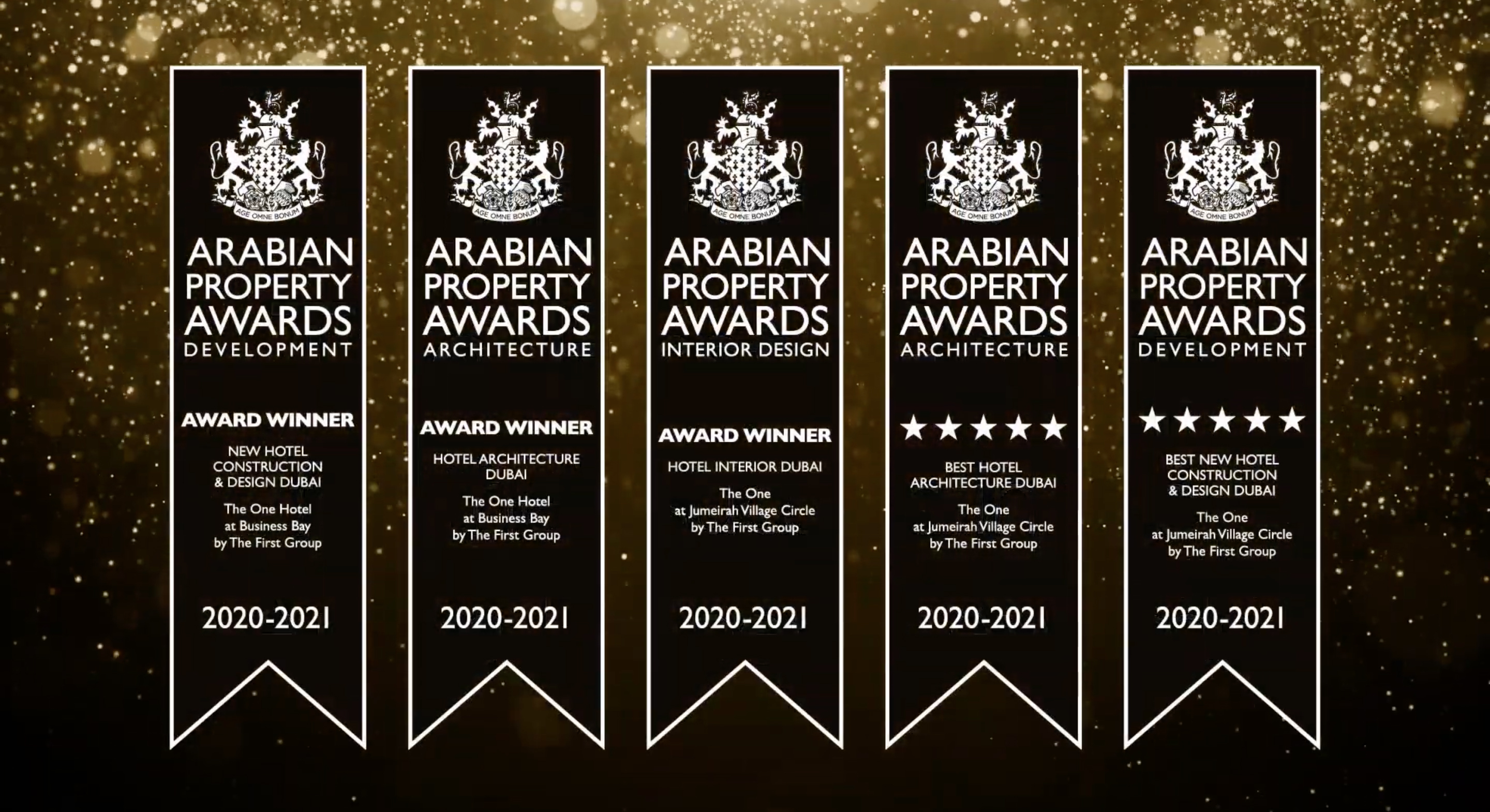 THE FIRST GROUP SWEEPS FIVE MAJOR CATEGORIES AT 2020-21 ARABIAN  PROPERTY AWARDS