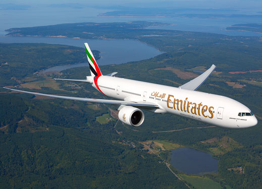 Dubai's Tourism attracts EU Tourist - Emirates Plane Flying