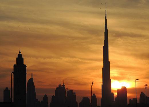 Dubai Sklyine Sunset