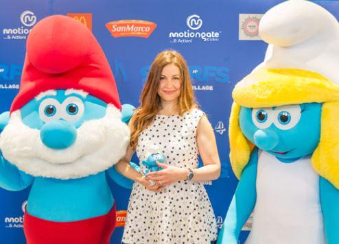 MOTIONGATE Dubai hosts The Smurfs' movie premiere