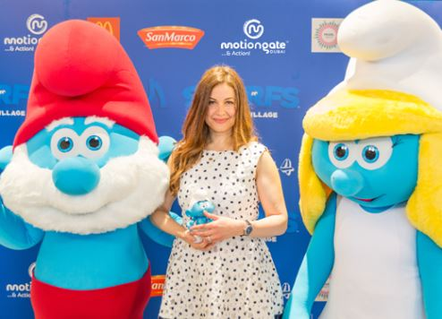 MOTIONGATE Dubai hosts The Smurfs' movie premiere