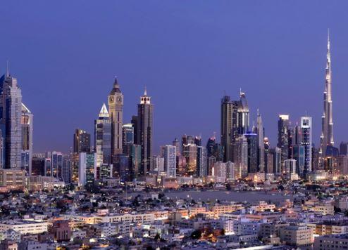 Dubai looks east