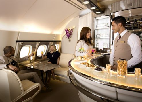 The new onboard lounge.