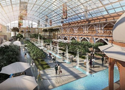An artist's impression of the Mall extension