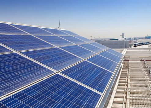 Dubai International Concourse D's solar array.