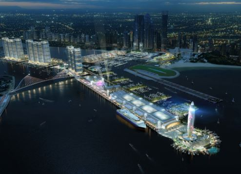 Artist's impression of Dubai Harbour