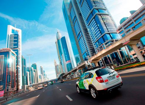 Google's Street View car in action on SZR.
