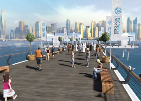 An artist's impression of the Boardwalk.