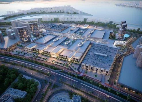 A model of Deira Mall.