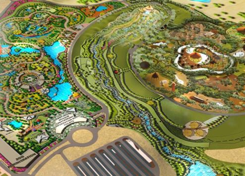 An artist's impression of Dubai Safari Park
