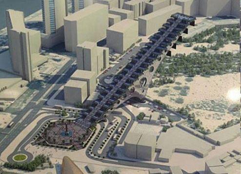 An artist's impression of Dubai Steps