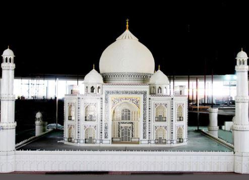The lego model of the Taj Mahal