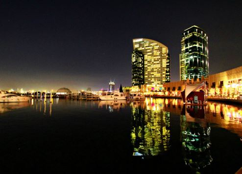 The new conference centre will be located opposite Dubai Festival City (pictured)