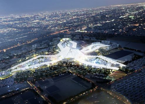 An artist's impression of the Expo site