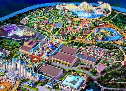 An artist's impression of Six Flags Dubai