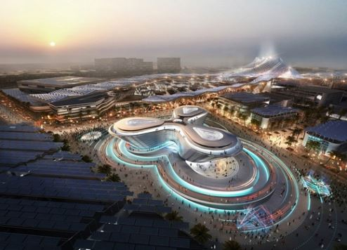 An artist's impression of the Expo 2020 site (Image courtesy Expo 2020).
