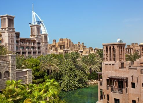 Dubai's Madinat Jumeirah is a popular destination among international visitors