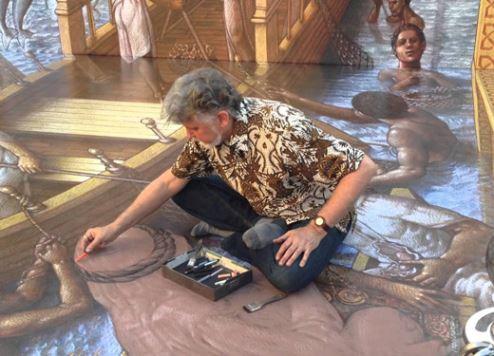 Kurt Wenner pictured at Dubai Canvas 2015.