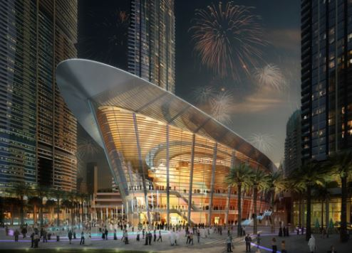 An artist's impression of Dubai Opera