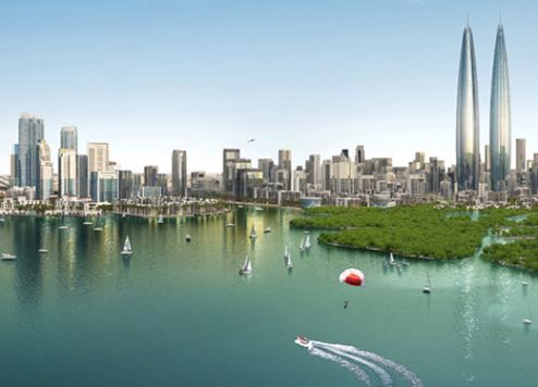 An artist's impression of Dubai Creek Harbour.
