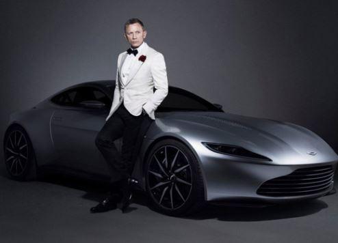 James Bond star Daniel Craig poses with the DB10.