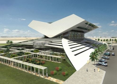 An artist's impression of the Sheikh Mohammed Bin Rashid Library