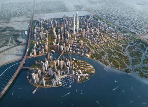 An artist's impression of Dubai Creek Harbour
