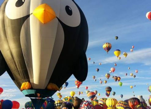 Balloons assemble at Dubai's Global Village