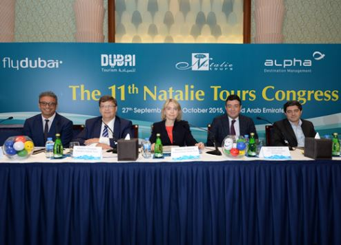 Executives pictured at the Natalie Tours Congress in Dubai