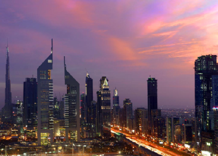 Dubai's Sheikh Zayed Road business district