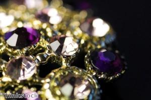 Jewellery on display at Dubai's international show