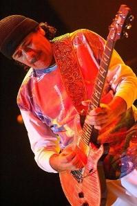 Carlos Santana performing at Jazz Festival