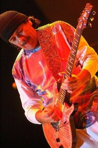 Carlos Santana performing at Jazz Festival