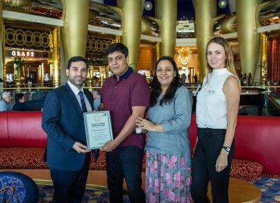 شركة THE FIRST GROUP تمنح الفائز المحظوظ إقامةً لا تنسى في فندق برج العرب بدبي